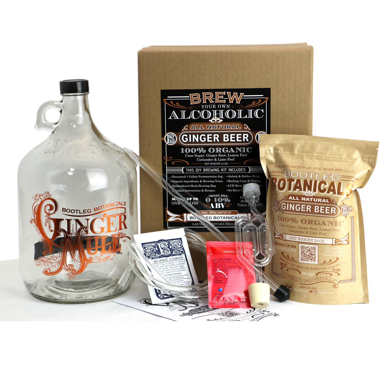 DIY Ginger Beer Making Kit ~ Bootleg Botanicals