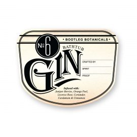 Bootleg Botanicals vintage inspired Bathtub Gin No.6 Bottle Label